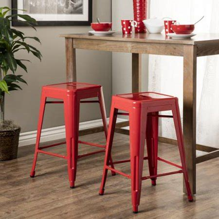 Tabouret 24 Inch Metal Counter Stools Set Of 2 by I Living Tabouret 24 Inch Metal Counter Stools