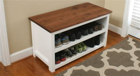 diy adjustable shoe storage bench fixthisbuildthat