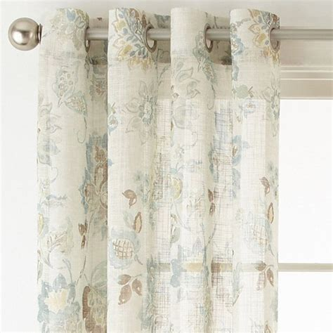 jcpenney home store curtains jcpenney home bismarck grommet top sheer curtain panel