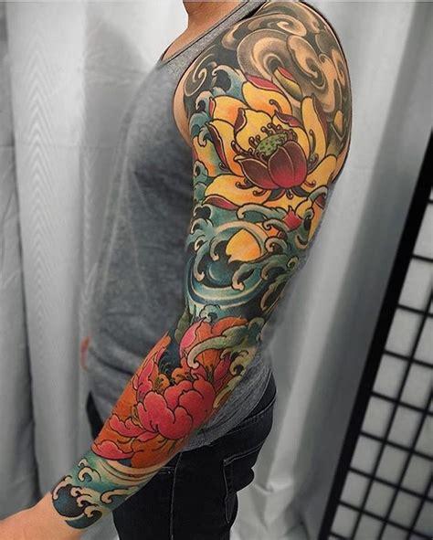 tattoo lengan koi 25 ide terbaik tato lengan di pinterest tato setengah