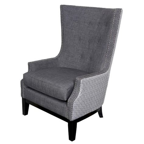 Grey Occasional Chair Design Ideas Gray Accent Chair With Nailheads Chair Design Ideas