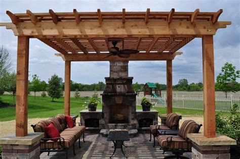 Pergola With Fireplace by Pergola Dayton Oh Pergola Builder Columbus Ohio Two