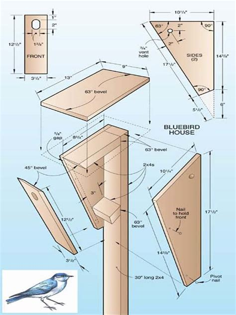 House Plans Bluebird House Plans One Board Bluebird Bluebird House Plans