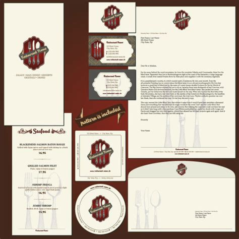 menu design label restaurant menu label template 01 vector material