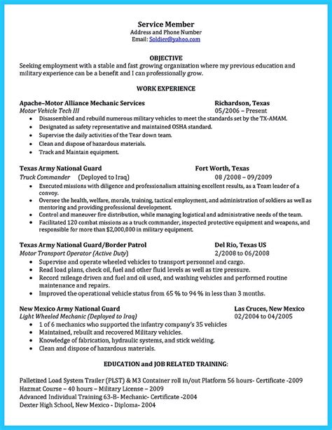 resume objective exles technician writing a concise auto technician resume