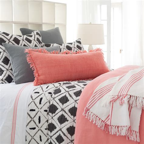 coral and gray bedding annie s favorite color pops coral grey