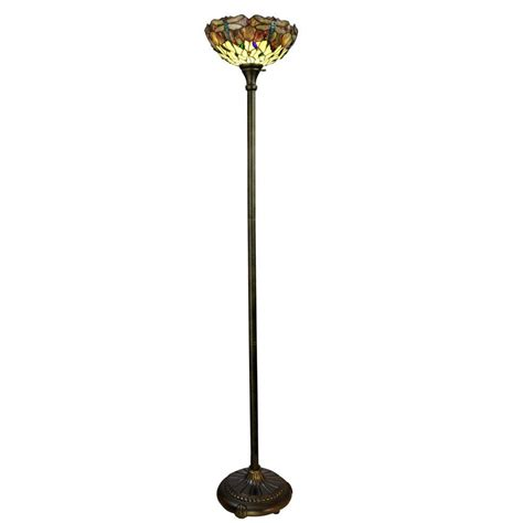 home depot tiffany ls dale tiffany crystal leaf collection 23 in antique bronze