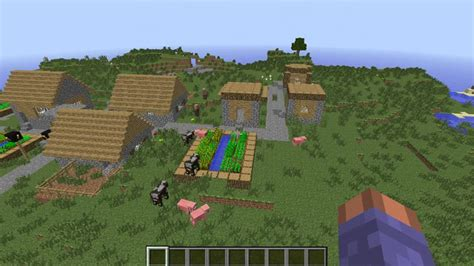 how to construct a house on a land of 25 40 cool minecraft flat land plains seed 1 9 1 8 8 good for