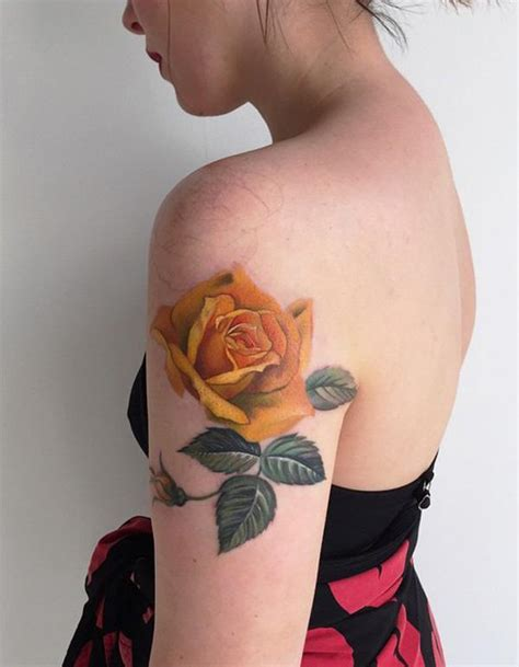 yellow rose bud tattoo yellow tattoos designs ideas and meaning tattoos