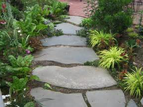 natural beauty blue flagstone path to brick patio year two