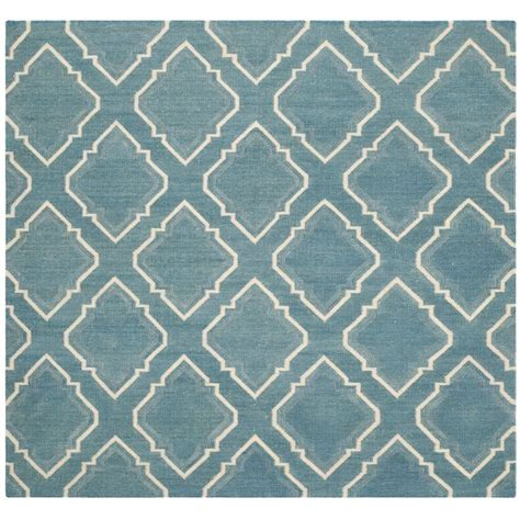 6 foot square rug safavieh dhurries blue ivory 6 ft x 6 ft square area rug dhu112a 6sq the home depot