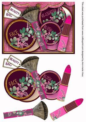 Decoupage Step By Step - pink make up bag decoupage step by step cup188421