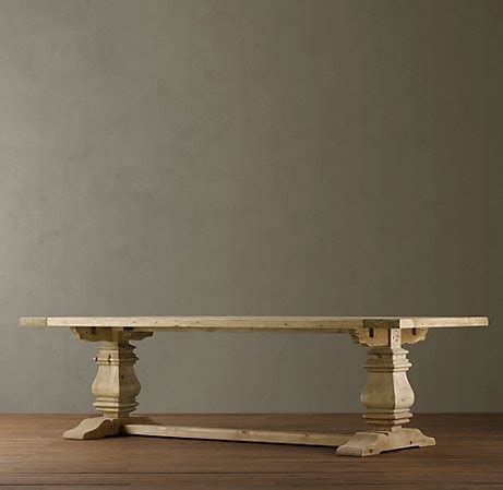 trestle table restoration hardware furniture