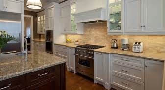 Kitchen Backsplash With White Cabinets White Kitchen Cabinets Travertine Backslash Tile Kitchen