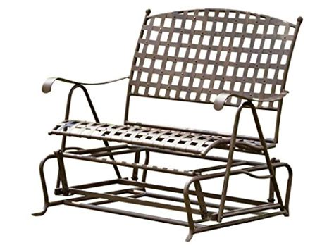wrought iron patio glider bench wrought iron glider bench reviews best outdoor benches 2017