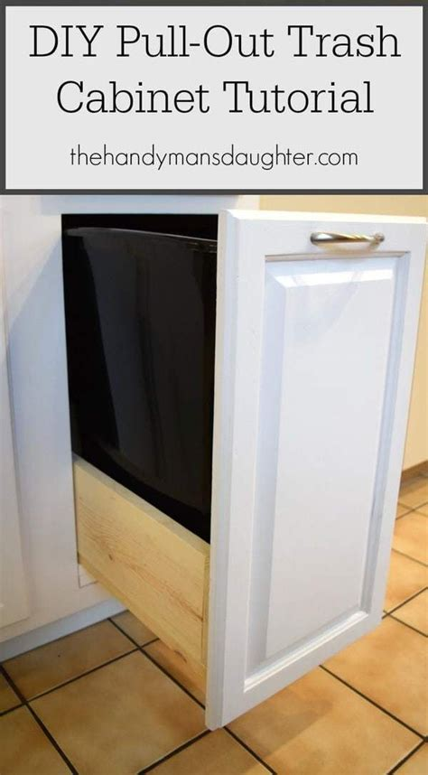 convert kitchen cabinets to pull out drawers best 25 trash can cabinet ideas on