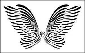 large stencil template large wings wall stencil