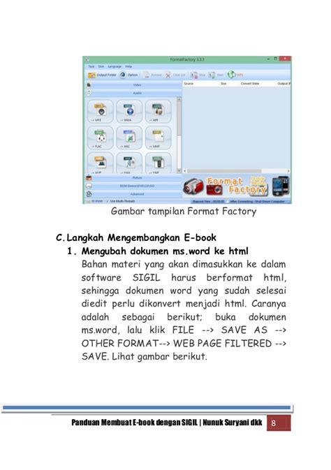 ebook membuat novel panduan membuat ebook dengan sigil