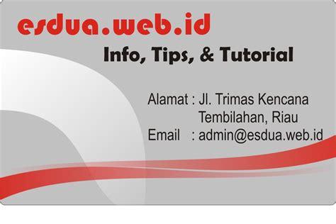 desain kartu nama dengan word desain kreatif kartu nama infokece com
