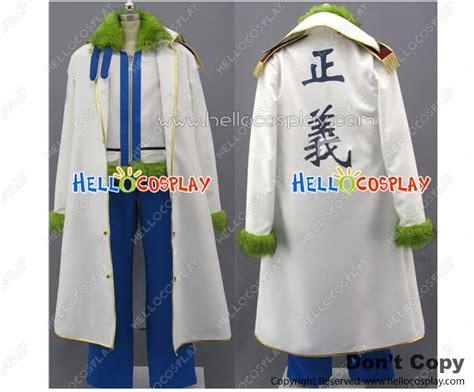 Marine Zippers Navy Jacket Jaket Anime One one smoker navy costume green fur collar