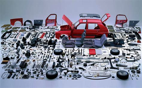 volkswagen parts your picture of the day disassembled mkii golf