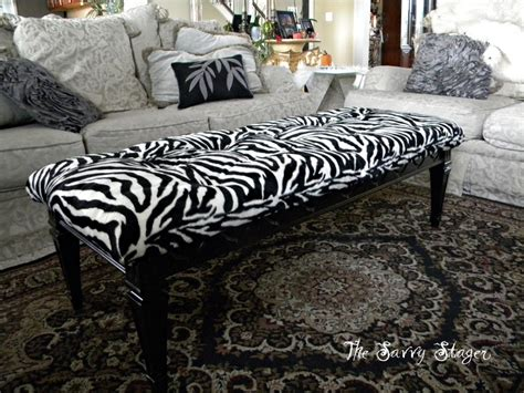 Turn A Coffee Table Into A Tufted Ottoman Spray Paint Turn Coffee Table Into Ottoman