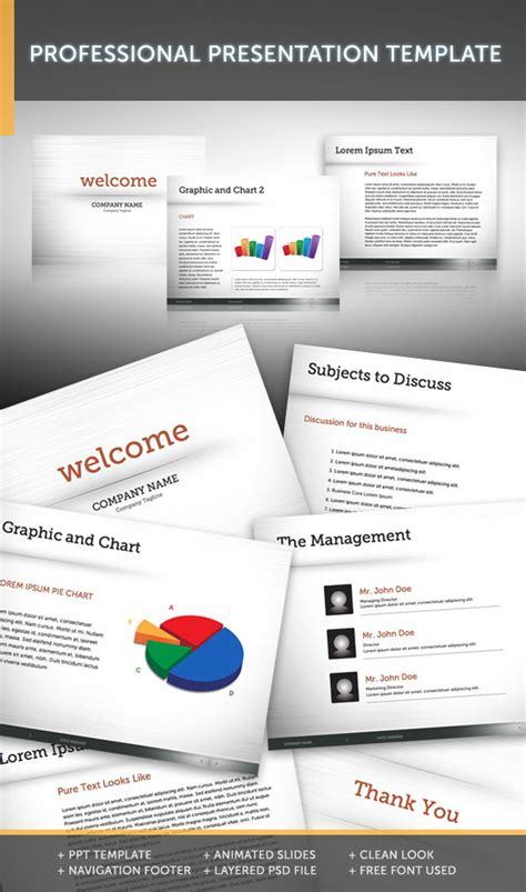 Professional Presentation Template 1 Graphicriver Graphicriver Powerpoint Templates