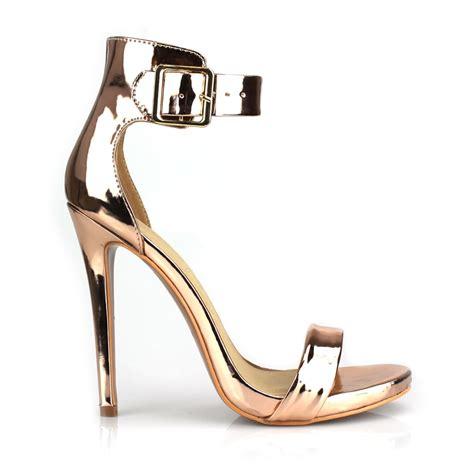 high heel sandal with ankle high stiletto heel ankle peep toe sandal