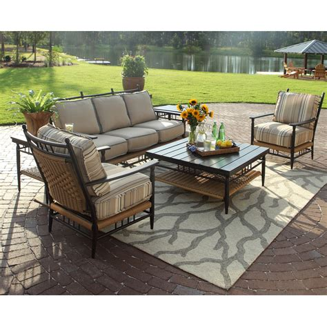 Country Patio Furniture Lloyd Flanders Low Country Wicker 6 Patio Lounge Set Lf Lowcountry Set1
