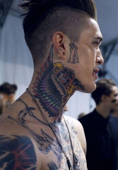 neck tattoos for men mens neck tattoo ideas