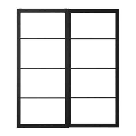 porte de coulissante 70 cm pax cadre porte coulissante 2pces 200x236 cm ikea