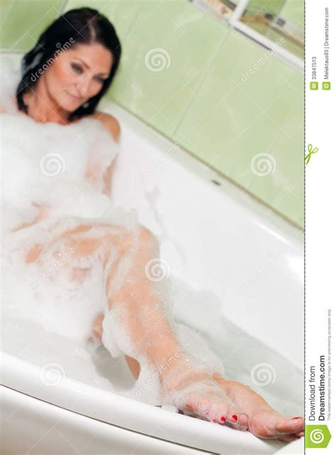 woman in bathroom stock photos image 33847513