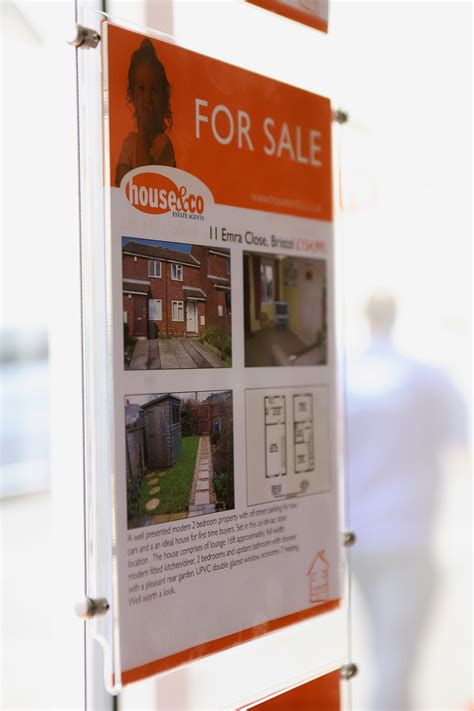 free window card templates estate agents an exle of interior wall display graphics