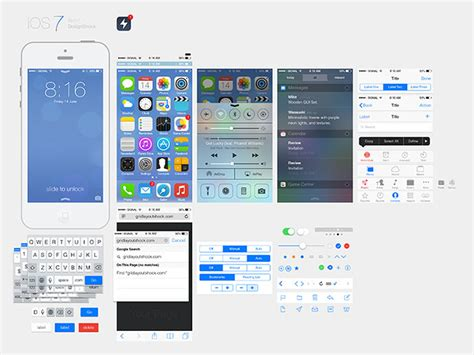 15 Free Psd Templates For Your Next Ios 7 App Web Graphic Design Bashooka Ios App Ui Templates