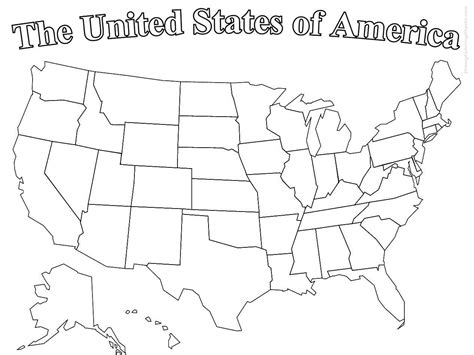 United states of america map coloring coloring pages