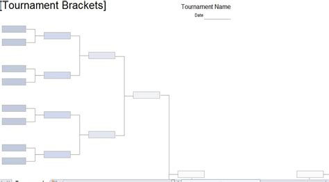 tournament bracket template tournament brackets template