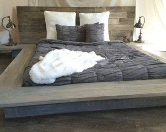 weathered driftwood finish platform bed base ca king king queen full twin   king