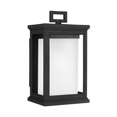 feiss roscoe 1 light textured black outdoor wall lantern