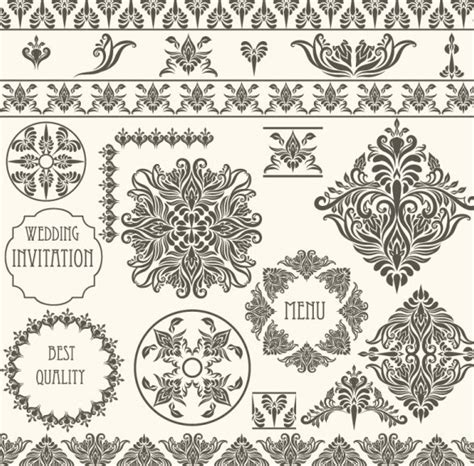 vintage design elements corners vector free free vector vintage floral border and corner design