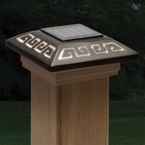 Solar Post Cap Lights Diy ALL ABOUT HOUSE DESIGN : Awesome Solar Post Cap Lights Ideas