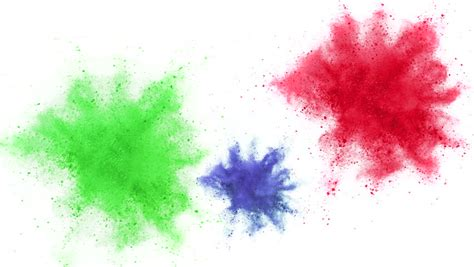 flex layout animation colorful powder particles fly after being exploded against