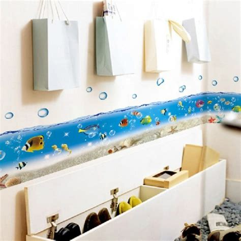 bathroom wall decals canada cartoon sea world bathroom bathtub kitchen sticker wall