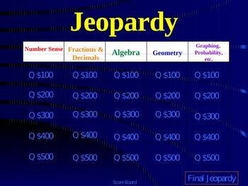 Jeopardy Powerpoint 4th Grade Math Star Review By Good Apples Tpt Jeopardy Review Powerpoint