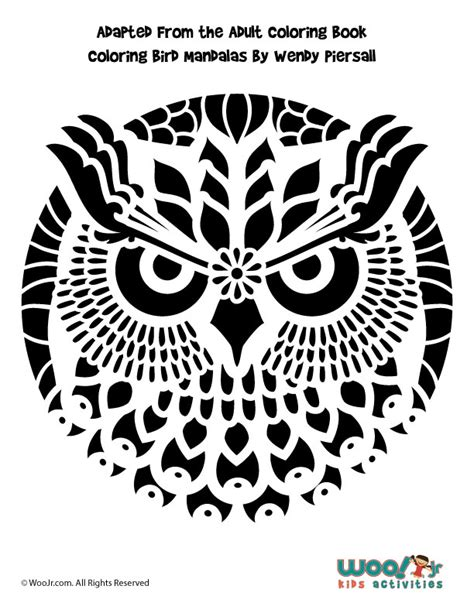 intricate pumpkin coloring pages intricate owl mandala pumpkin pattern woo jr kids