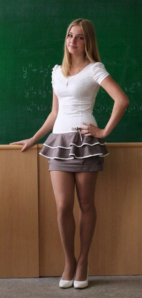 really pretty school teacher this is why it was so hard to study in school 9