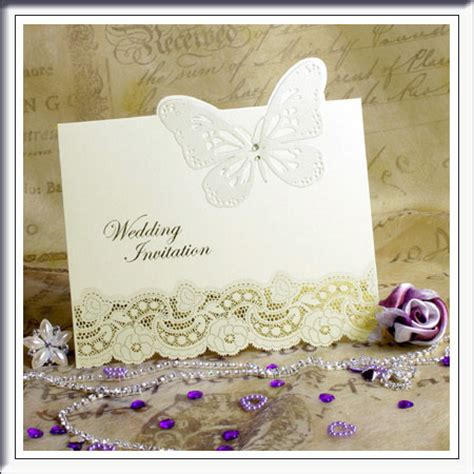 Wedding Invitations With Butterflies On Them
