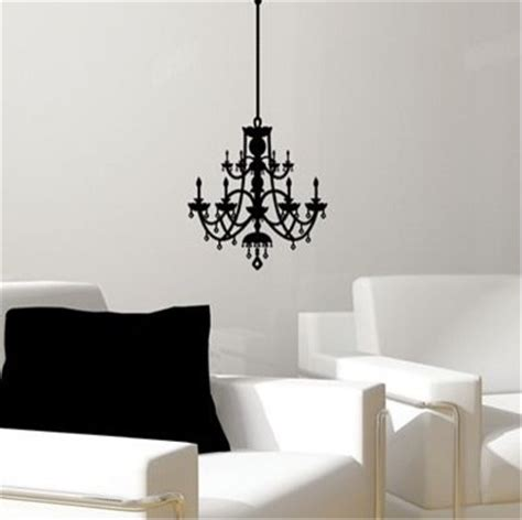 Chandelier Decals Rhinestone Chandelier Vinyl Wall Decal Eclectic Wall Decals By Cost Plus World Market