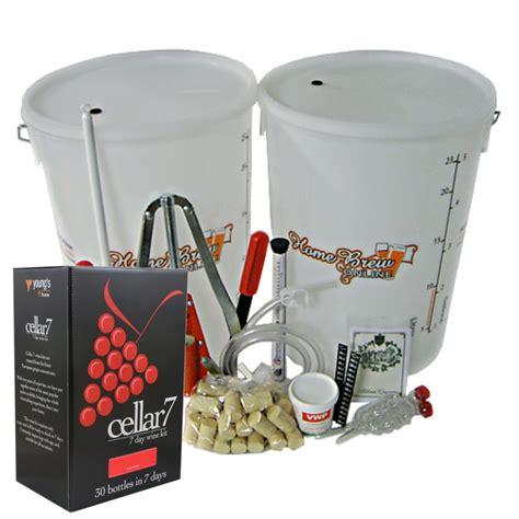 cellar 7 starter kits wine cellar 7 from home brew