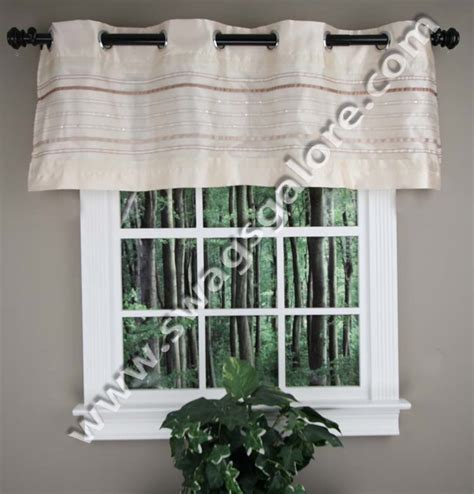 fiesta curtains fiesta grommet valance vanilla kitchen valances