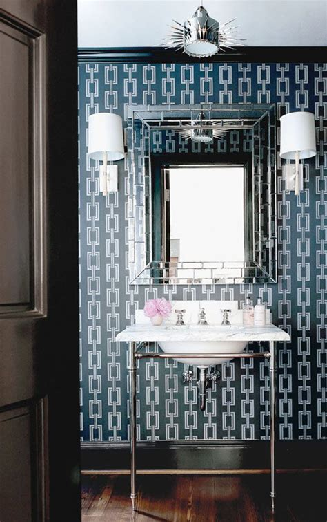 best wallpaper for powder room 5 favorites wallpapered powder rooms simplified bee